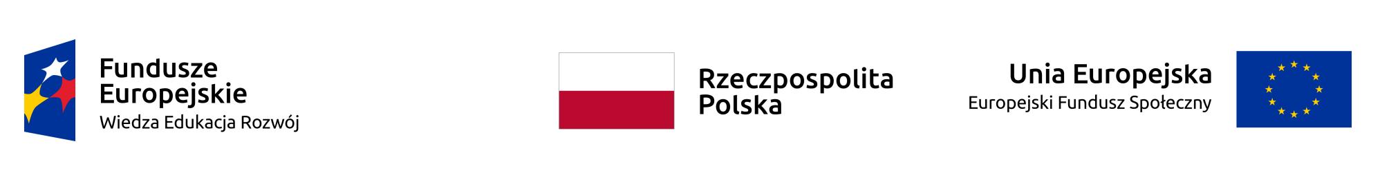 Logo Fundusze Europejskie - Rzeczposoplita Polska - Unia Europejska